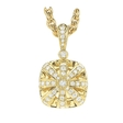 1.65ct Charles Krypell Diamond and Citrine 18k Yellow Gold Pendant Necklace