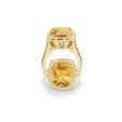 1.85ct Charles Krypell Diamond and Citrine 18k Yellow Gold Ring