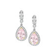2.35ct Charles Krypell Diamond and Morganite 18k Two Tone Gold Dangle Earrings