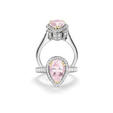 1.05ct Charles Krypell Diamond and Morganite 18k Two Tone Gold Right Hand Ring