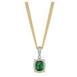 .85ct Charles Krypell Diamond, Yellow Sapphire and Green Tourmaline 18k Two Tone Gold Necklace