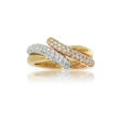 .85ct Leo Pizzo Diamond 18k Three Tone Gold Ring