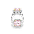 1.50ct Charles Krypell Diamond and Morganite 18k White Gold Ring