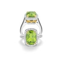 Charles Krypell Diamond, Yellow Sapphire & Peridot 18k Two Tone Ring