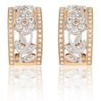 .72ct Simon G Diamond Antique Style 18k Two Tone Gold Floral Earrings