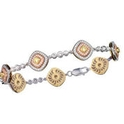 Simon G Diamond Antique Style 18k Three Tone Gold Bracelet