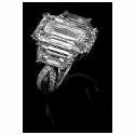 Christopher Designs Diamond 18k White Gold Three Stone Engagement Ring Setting