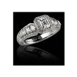 .69ct Christopher Designs Diamond Antique Style 18k White Gold Engagement Ring Setting