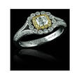.79ct Christopher Designs Diamond Platinum and 18K Yellow Gold Engagement Ring