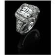 1.40ct Christopher Designs Diamond Antique Style Platinum Halo Engagement Ring Setting