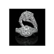 1.01ct Christopher Designs Diamond Antique Style Platinum Halo Engagement Ring Setting