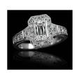 1.83ct Christopher Designs Diamond Antique Style 18k White Gold Engagement Ring
