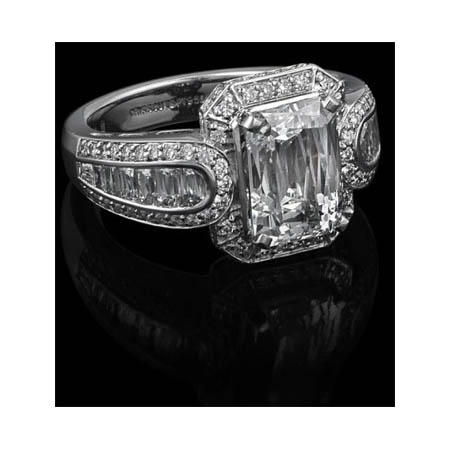 Christopher Designs Diamond Platinum Halo Engagement Ring Setting