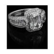 1.37ct Christopher Designs Diamond Platinum Halo Engagement Ring Setting