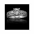 .65ct Christopher Designs Diamond 18k White Gold Engagement Ring Setting