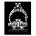 Christopher Designs Diamond Antique Style platinum Engagement Ring Setting