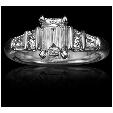 1.09ct Christopher Designs Diamond Platinum Engagement Ring Setting