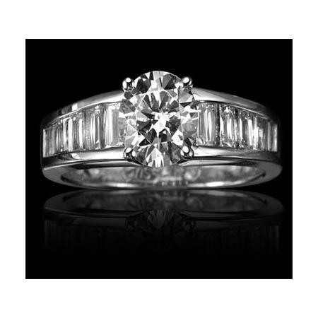 1.17ct Christopher Designs Diamond Platinum Engagement Ring Setting