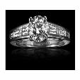 .81ct Christopher Designs Diamond Platinum Engagement Ring Setting
