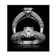 1.03ct Christopher Designs Diamond Antique Style 18k White Gold Engagement Ring Setting