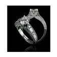 .98ct Christopher Designs Diamond Antique Style Platinum Engagement Ring Setting
