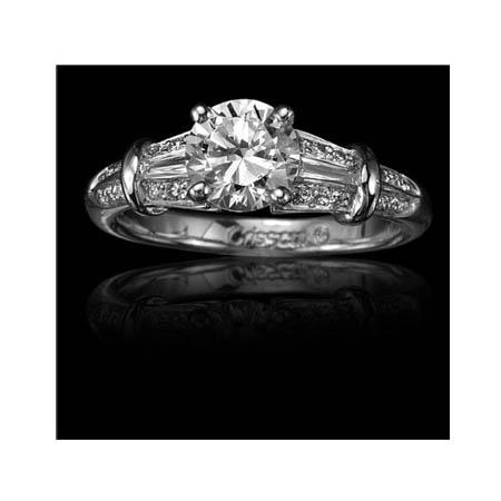 Christopher Designs Diamond Platinum Engagement Ring Setting