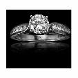 .38ct Christopher Designs Diamond 18k White Gold Engagement Ring Setting