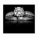Christopher Designs Diamond 18k White Gold Engagement Ring Setting