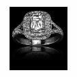 .35ct Christopher Designs Diamond 18k White Gold Double Halo Engagement Ring Setting