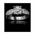 1.10ct Christopher Designs Diamond Platinum Engagement Ring Setting