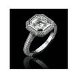 .91ct Christopher Designs Diamond Antique Style Platinum Halo Engagement Ring Setting