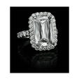 1.50ct Christopher Designs Diamond Platinum Halo Engagement Ring Setting