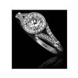 .22ct Christopher Designs Diamond Antique Style 18k White Gold Engagement Ring Setting