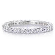 .91ct Diamond Platinum Eternity Shared Prong Wedding Band Ring