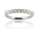 Natalie K Diamond Platinum Wedding Band Ring