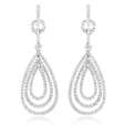 1.88ct Diamond 18k White Gold Dangle Earrings