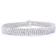 8.08ct Diamond 18k White Gold Bracelet