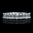 3.81ct Christopher Designs Diamond Platinum Eternity Wedding Band Ring