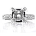 Diamond Platinum Eternity Engagement Ring Setting