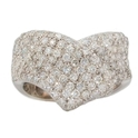 Garavelli Diamond 18k White Gold Ring