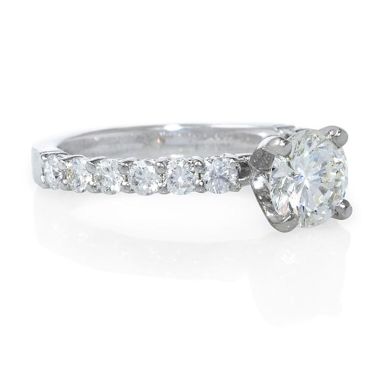 52ct Diamond Platinum Engagement Ring Setting