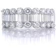 1.52ct Diamond Platinum Wedding Band Ring
