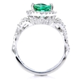 .60ct Simon G Diamond and Green Tourmaline 18k White Gold Ring