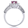 1.04ct Diamond and Ruby 18k White Gold Ring