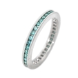 .68ct Blue Diamond 18k White Gold Eternity Wedding Band Ring