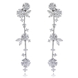 3.41ct Diamond 18k White Gold Dangle Earrings