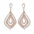 12.06ct Leo Pizzo Diamond 18k Two Tone Gold Dangle Earrings