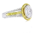 1.58ct Simon G Diamond Antique Style 18k Two Tone Gold Mosaic Ring