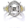 .80ct Simon G Diamond Antique Style 18k Two Tone Gold Engagement Ring Setting