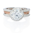 .83ct Simon G Diamond 18k Two Tone Gold Halo Engagement Ring Setting